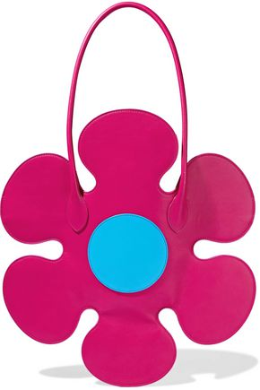 MOSCHINO Flower leather tote