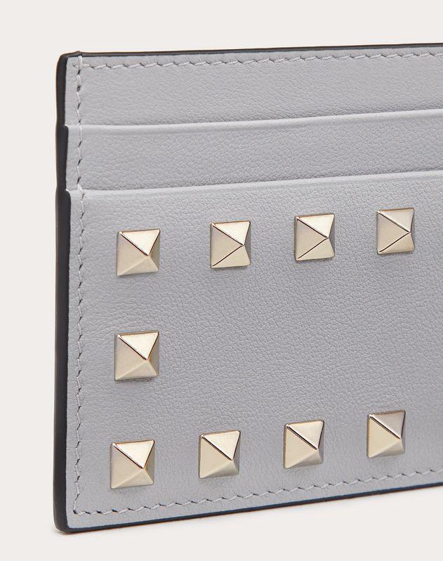 Rockstud Calfskin Cardholder