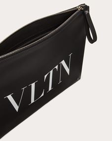 LEATHER VLTN CLUTCH