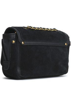 JÉRÔME DREYFUSS Leather-trimmed suede shoulder bag