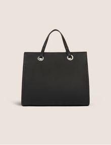 ARMANI EXCHANGE DENIM EFFECT SATCHEL WITH LOGO CHARM Satchel bag Woman d