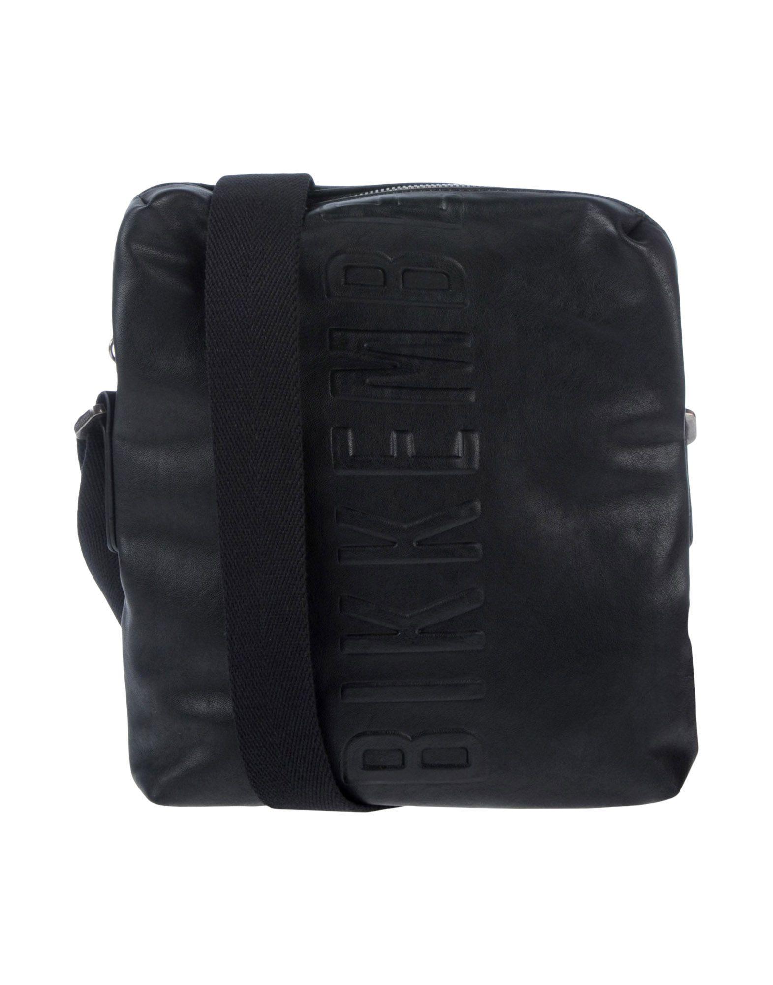 《セール開催中》BIKKEMBERGS メンズ メッセンジャーバッグ ブラック ポリウレタン 100%