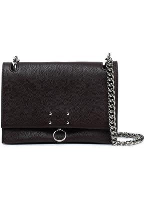 JIL SANDER Embellished textured-leather shoulder bag