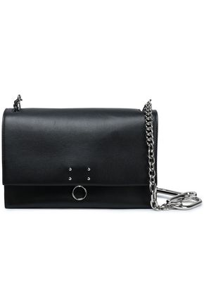 JIL SANDER Embellished leather shoulder bag