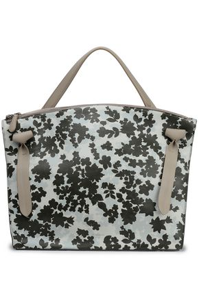 JIL SANDER Floral-print leather tote