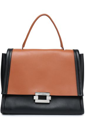 JIL SANDER Two-tone leather tote