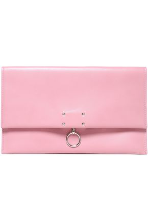 JIL SANDER Embellished leather clutch