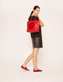 ARMANI EXCHANGE A|X EMOJI LOGO TOTE Tote bag Woman r