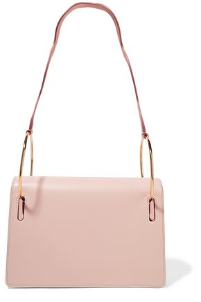 ROKSANDA Smooth and textured-leather shoulder bag
