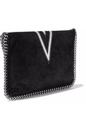 STELLA McCARTNEY Falabella mini embroidered faux brushed-leather shoulder  bag 97e4f029d773e