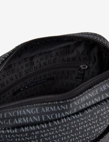 ARMANI EXCHANGE ALLOVER LOGO PRINT CROSSBODY Crossbody bag Man e