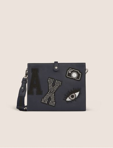 STUDDED PATCH MINI CROSSBODY