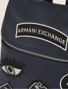 ARMANI EXCHANGE MULTI-PATCH LOGO BACKPACK Backpack Woman a