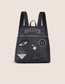 ARMANI EXCHANGE MULTI-PATCH LOGO BACKPACK Backpack Woman f