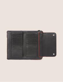 ARMANI EXCHANGE FLAP-FRONT WRISTLET WALLET Wallet [*** pickupInStoreShipping_info ***] r