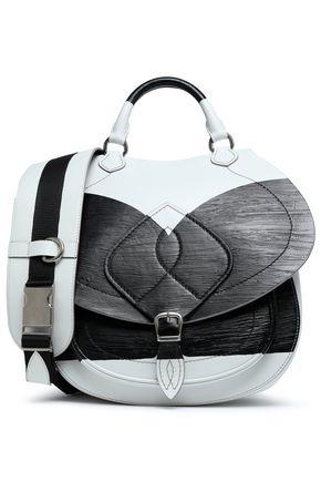 MAISON MARGIELA Two-tone coated leather shoulder bag
