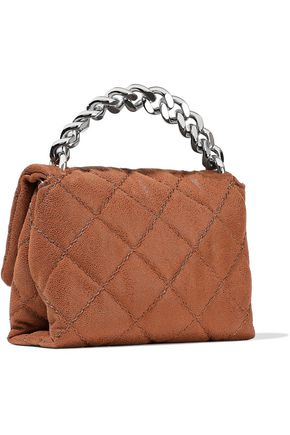 STELLA McCARTNEY Quilted brushed faux leather shoulder bag