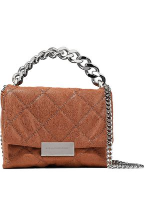 STELLA McCARTNEY Quilted brushed faux leather shoulder bag