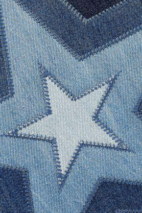 ... STELLA McCARTNEY Falabella patchwork denim shoulder bag ... eaffcde0882a9