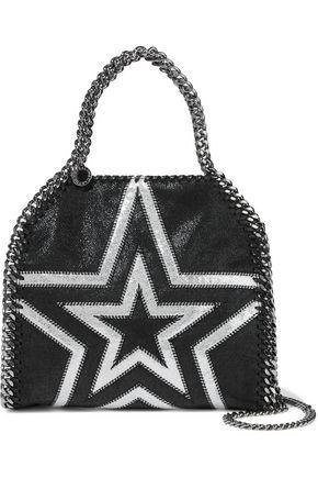 STELLA McCARTNEY Falabella metallic printed faux brushed-leather shoulder bag