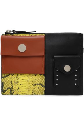 3.1 PHILLIP LIM Paneled leather pouch