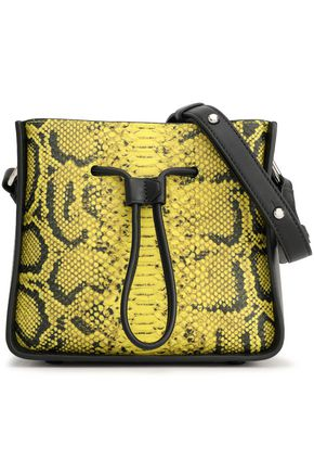 3.1 PHILLIP LIM Snake-effect and smooth leather bucket bag
