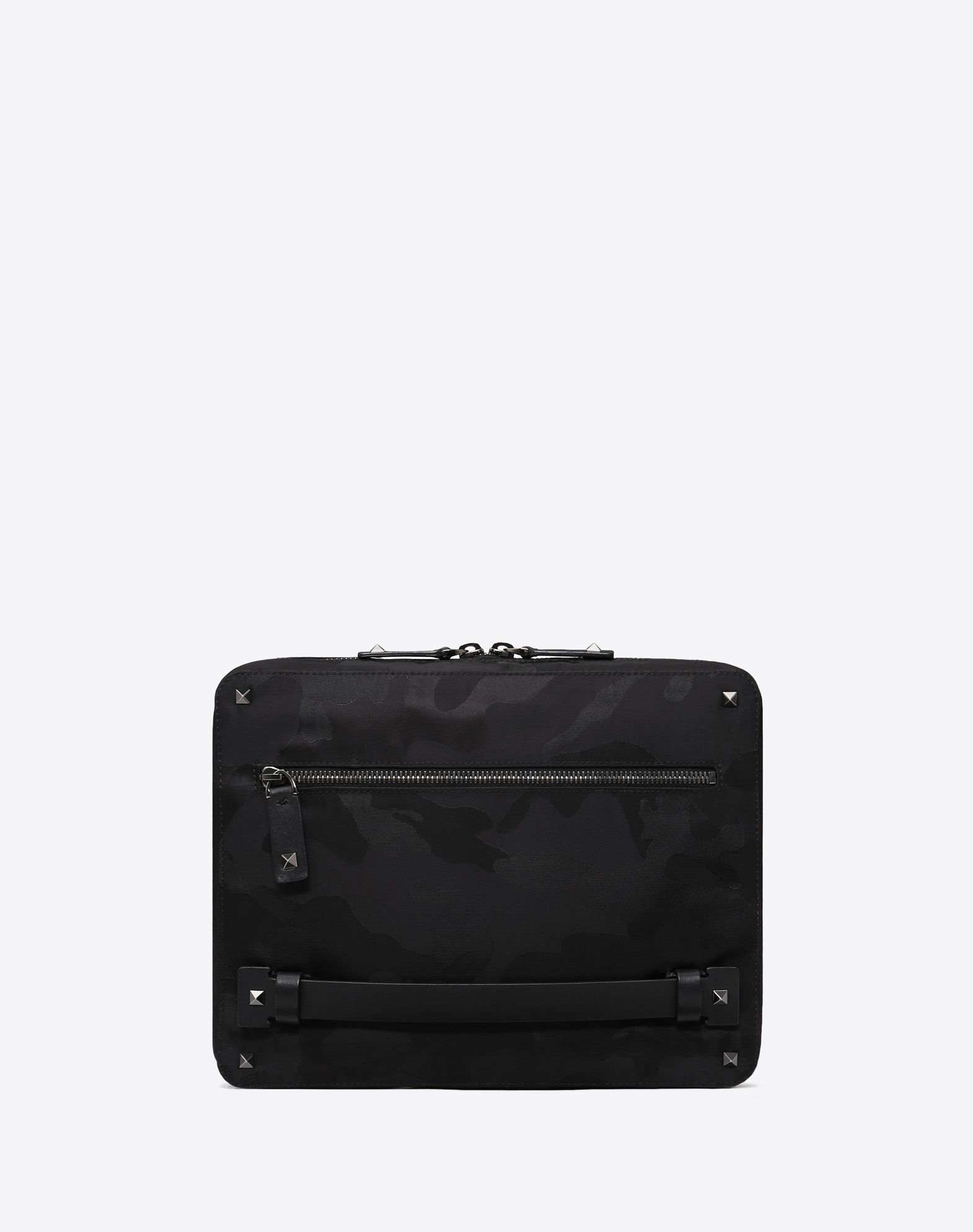 MEDIUM NYLON CAMOUFLAGE NOIR CLUTCH