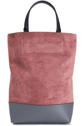 RAG & BONE Two-tone leather and suede tote