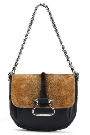 ROBERTO CAVALLI Calf hair and leather shoulder bag
