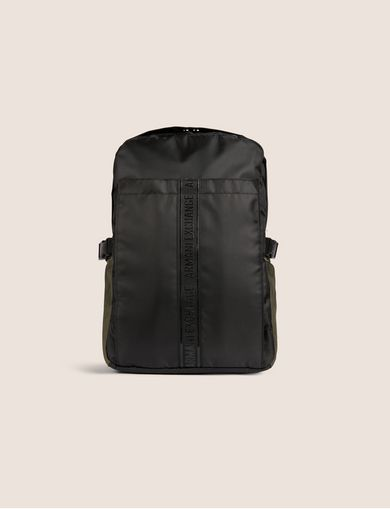 MESH-FRONT LOGO TAPE BACKPACK