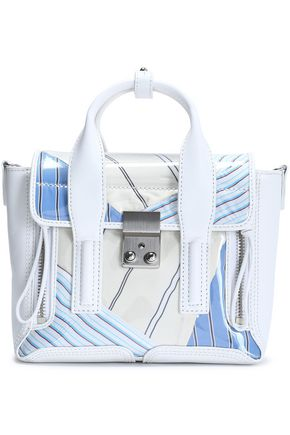 3.1 PHILLIP LIM Pashli leather and printed canvas shoulder bag