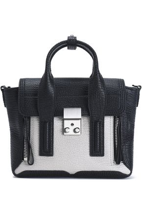 3.1 PHILLIP LIM Two-tone textured-leather shoulder bag