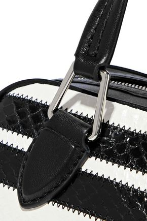 3.1 PHILLIP LIM Ray small striped snake-effect leather shoulder bag