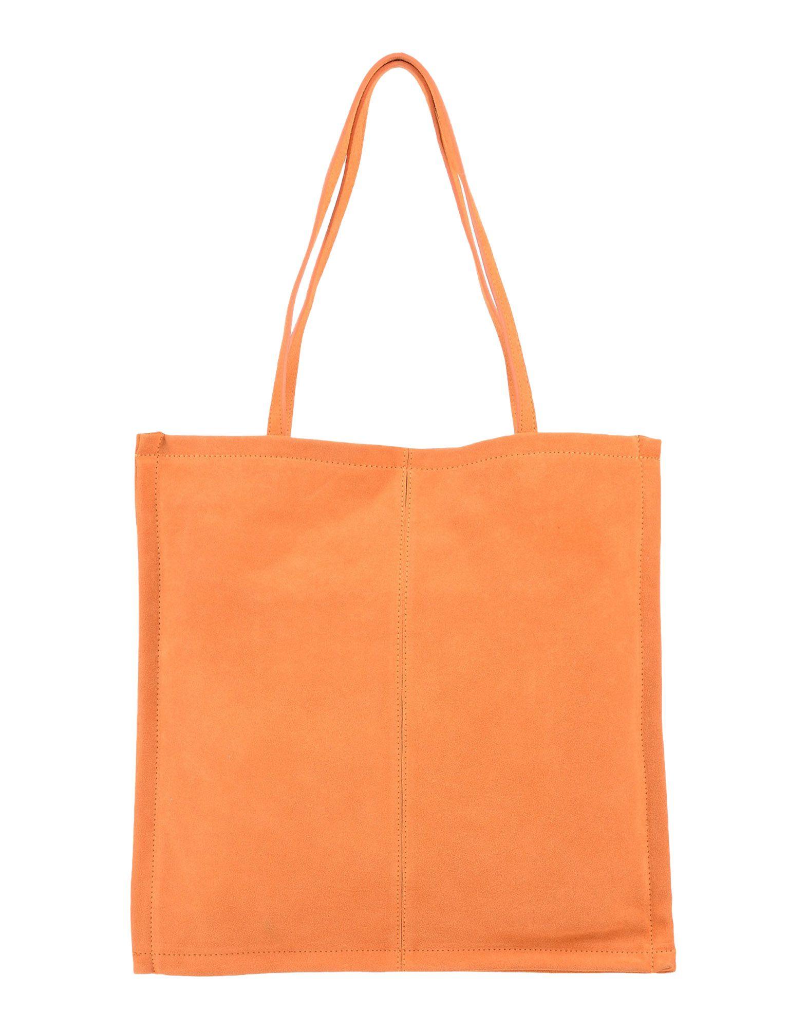 《送料無料》CARLA G. レディース ハンドバッグ オレンジ 革