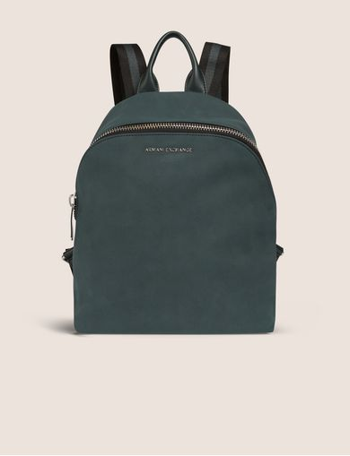 MINIMALIST BACKPACK WITH STRIPED STRAPS
