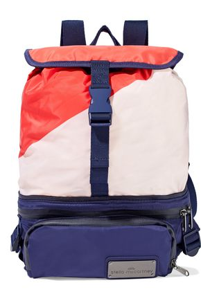 ADIDAS by STELLA McCARTNEY Run convertible mesh-paneled color-block shell backpack
