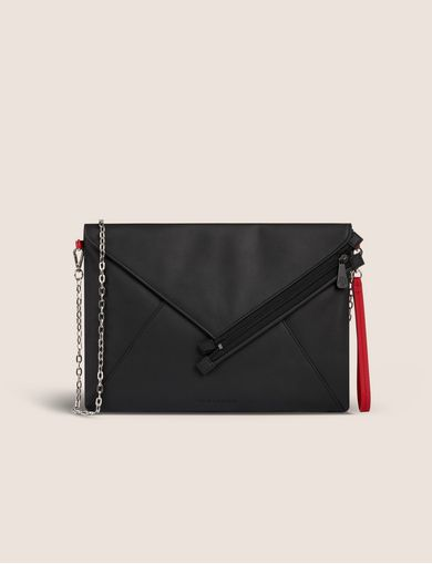 ASYMMETRICAL ENVELOPE CROSSBODY CLUCH