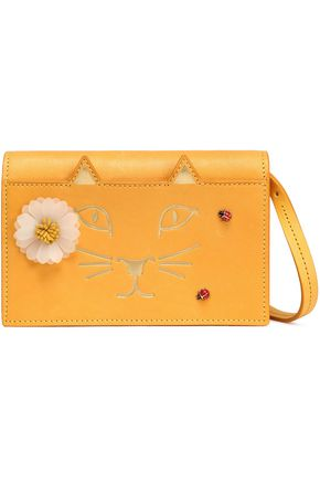 CHARLOTTE OLYMPIA Embellished printed leather shoulder bag