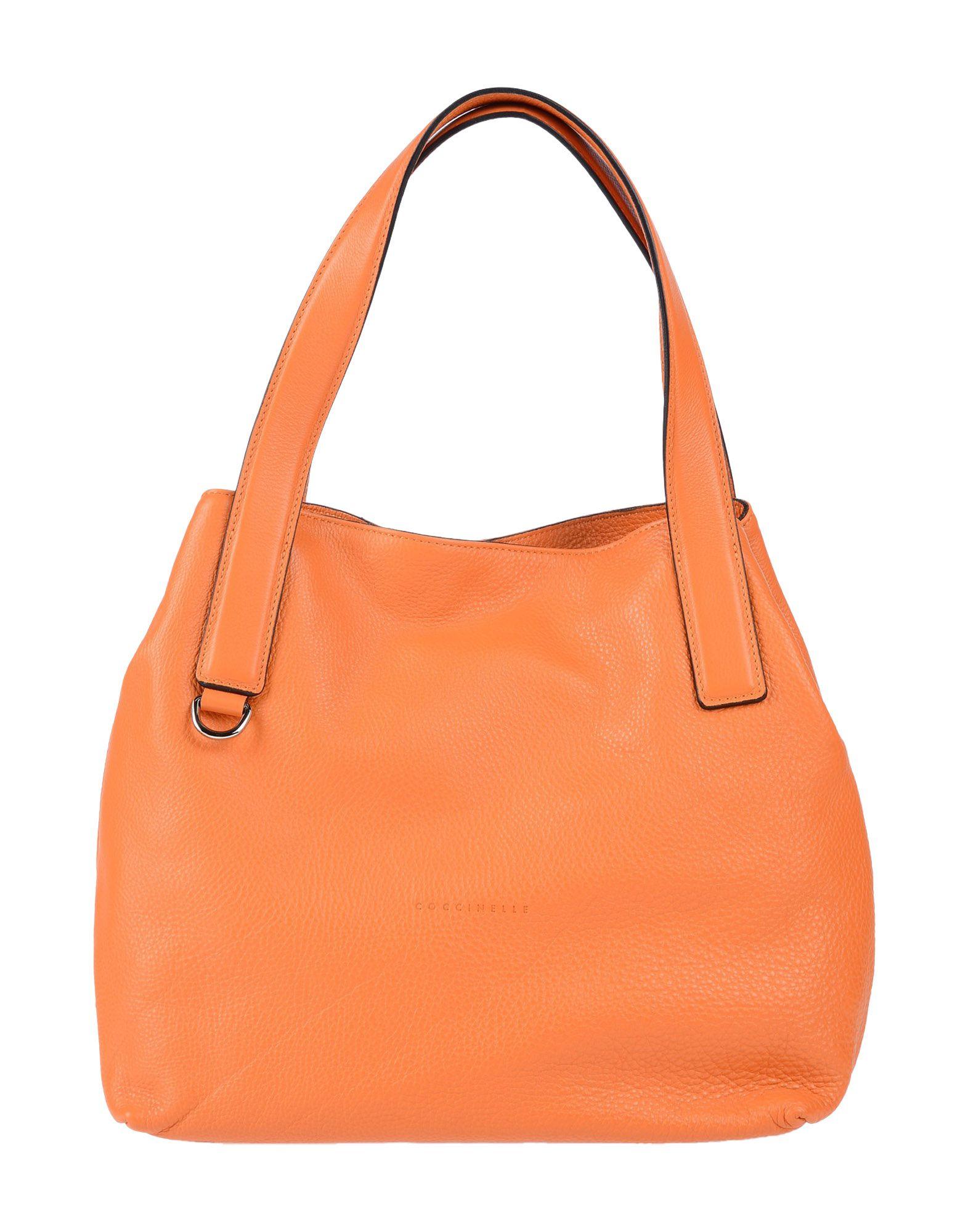 《送料無料》COCCINELLE レディース ハンドバッグ オレンジ 革