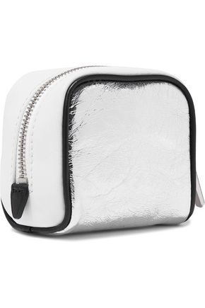 3.1 PHILLIP LIM Ryder matte and metallic cracked-leather coin purse