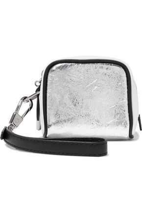 3.1 PHILLIP LIM Ryder coated metallic textured-leather clutch