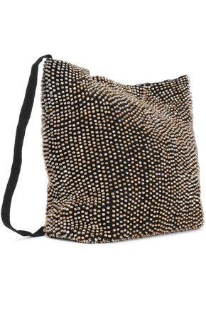 ANN DEMEULEMEESTER Beaded crepe de chine shoulder bag