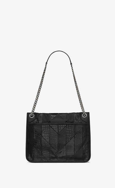 SAINT LAURENT Niki bags Woman niki medium in leather and ayers patchwork b_V4