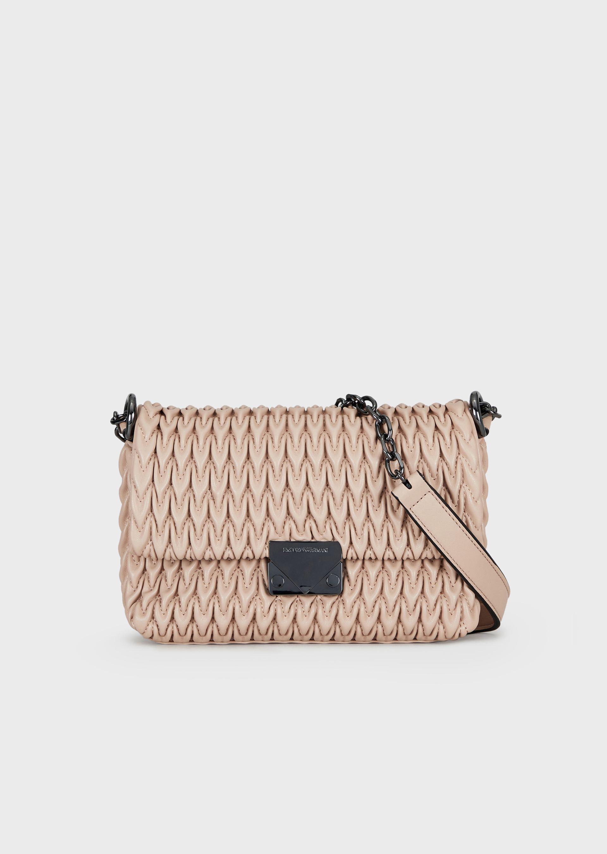 EMPORIO ARMANI Quilted eco-nappa shoulder bag with drop motif