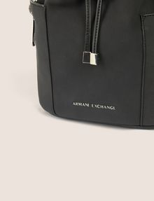 ARMANI EXCHANGE STRIPED STRAP BUCKET BAG Bucket Bag [*** pickupInStoreShipping_info ***] a