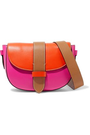 M MISSONI Color-block leather shoulder bag