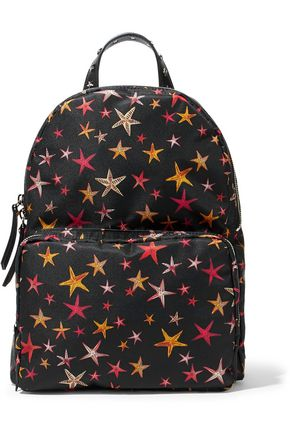 RED(V) Studded printed shell backpack