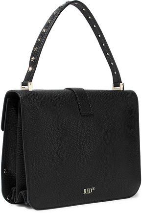 REDValentino Studded textured-leather shoulder bag
