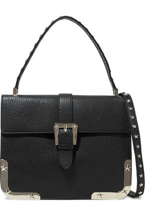 REDValentino Studded textured-leather shoulder bag