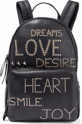 REDValentino Studded textured-leather backpack